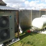 Chauffage d'une maison en remplacement Chaudière au propane groupe extérieur
